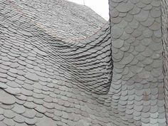 perhaps technique for creating Gaudi type slate roof