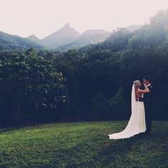 My dream scenery in one of my wedding pictures