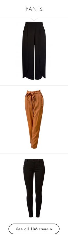 """""""PANTS"""" by imrinad ❤ liked on Polyvore featuring pants, trousers, bottoms, calças, wide leg pants, wide-leg trousers, side pocket pants, wide-leg pants, rust and brown pants"""