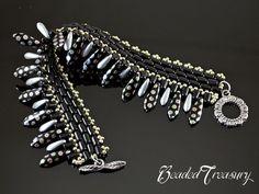 Bracelet beading tutorial rulla bead pattern by BeadedTreasury