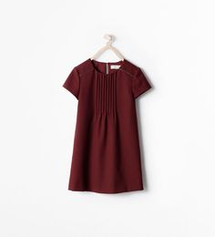 Image 1 of DRESS WITH PLEATS from Zara