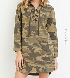 Mine!  F21 camo. Gotta love something different like this dress