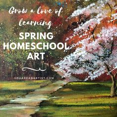 We have such fun spring homeschool art lessons coming up, you will start feeling like spring yourself, and looking around for your flip flops! Spring Scene, Acrylic Tutorials, Art Lessons For Kids, Summer Games, Nature Study, You Are Invited, Spring Garden, Art Music, Online Art