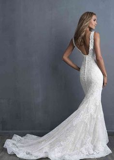 Wedding Dress by Allure Couture - Search our photo gallery for pictures of wedding dresses by Allure Couture. Find the perfect dress with recent Allure Couture photos. Boho Wedding Dress With Sleeves, Western Wedding Dresses, Sexy Wedding Dresses, Long Sleeve Wedding, Princess Wedding Dresses, Designer Wedding Dresses, Bridal Dresses, Fit And Flare Wedding Dress, Couture Wedding Dresses