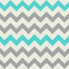 Aqua Grey Chevron fabric by bluenini on Spoonflower - custom fabric
