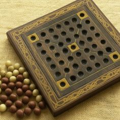 ANCIENT BOARD GAME  - Woodwork - Art - Handmade - Decoration - Gift - Wedding gift - Christmas gift: Halatafl (Viking Game).. $82.00, via Etsy.