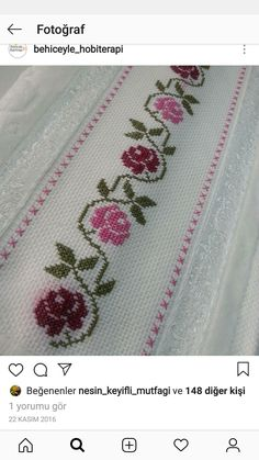 Folk Embroidery Cross Stitch Embroidery Embroidery Patterns Flower Patterns Table Runners Crochet Home Cross Stitch Flowers Cross Stitch Designs Diana Cross Stitch Needles, Cute Cross Stitch, Cross Stitch Rose, Cross Stitch Borders, Cross Stitch Flowers, Cross Stitch Designs, Cross Stitching, Cross Stitch Embroidery, Crewel Embroidery