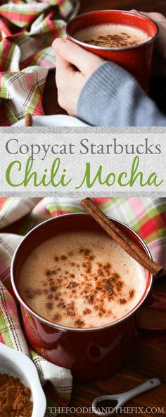 21 Day Fix Copycat Starbucks Chile Mocha - the perfect drink recipe to warm you up this winter!