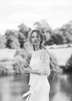 In love with beauty and traditions, Delphine Manivet designs romantic, modern and timeless bridal dresses. Discover her french bridal inspiration here. Delphine Manivet Wedding Dresses, Designer Wedding Dresses, Bridal Dresses, French Wedding Dress, Dress Wedding, Boho Wedding, Wedding Ideas, Boho Gown, Bridal Tips