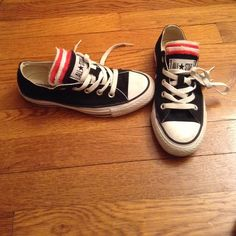 All Star converse they are in ok condition, 7/10, and they are worn All Star Shoes