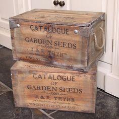 Home Homeware Garden Wooden Garden Seeds <b>Box</b>