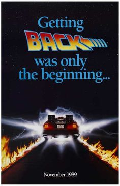 Back to the Future Getting Back DeLorean Movie Poster 11x17