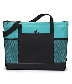 Bodek And Rhodes 80279480 1100 Gemline Select Zippered Tote Turquoise  One >>> See this great product.