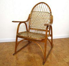 Vintage Mid Century Chair Primitive Adirondack