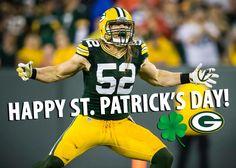 Happy St Patrick's Day. From clay Matthews! #gopackgo #greenbaypackers #claymattheww