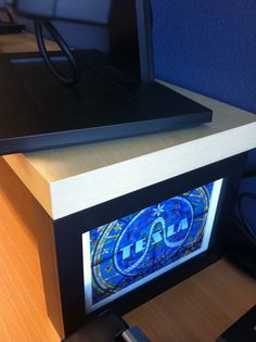 IKEA Hackers: Monitor stand with Ribba photo frame legs