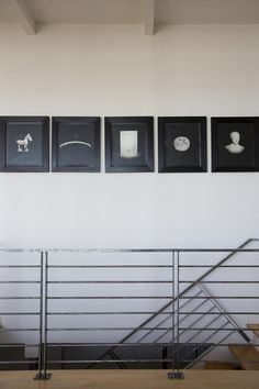Be My Valentine: At Home with an SF Design Duo - Remodelista Stairway Photo Gallery, Stairway Photos, Metal Railings, Stair Railing, North Design, Black And White Design, White Art, Staircase Design, Be My Valentine