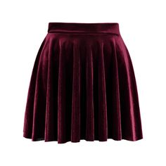 Mini Velvet A Line Circle Skirt Burgundy ($18) ❤ liked on Polyvore featuring skirts, mini skirts, flared skirt, velvet skater skirt, mini skirt, skater skirt and circle skirts