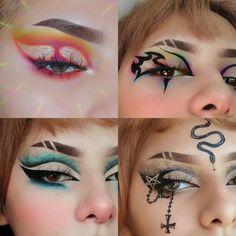 Punk Makeup, Dope Makeup, Edgy Makeup, Grunge Makeup, Gothic Makeup, Eye Makeup Art, Crazy Makeup, Fantasy Makeup, Pretty Makeup