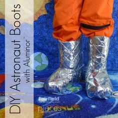 Astronaut Moon Boots - Halloween Costume Accessory - Fairfield World Craft Projects These easy Astronaut Boots make the perfect Astronaut costume accessory. DIY moon boots for halloween or cosplay. Astronaut Diy, Diy Astronaut Costume, Astronaut Halloween, Costume Halloween, Halloween Costume Accessories, Halloween Diy, Halloween Dinner, Family Halloween, Space Costumes