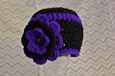 Baltimore Ravens Inspired Crochet Beanie by CEDdesigns on Etsy