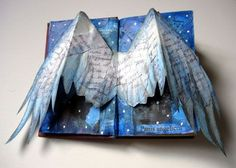 Angel wings http://www.alexifrancisillustrations.co.uk/wordpress/wp-content/uploads/2010/02/angel-altered-book-w.jpg