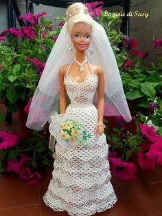Abito sposa a balze