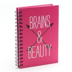 Simple Pleasures ''Brains & Beauty'' Spiral Notebook