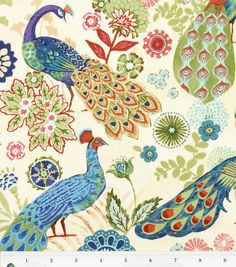 Keepsake Calico Fabric Royal Peacock