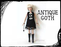 Barbie / Fashionistas Doll Clothes  Antique Goth by DOLLS4EMMA