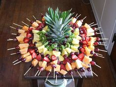 Fruit skewers display party-food-dessert-tablescapes   # Pinterest++ for iPad #