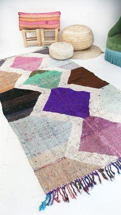 """Vintage Kilim marroquí - BOUCHEROUITE alfombra """"diamantes color"""""""