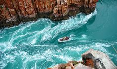 Coral Princess Cruises passengers are taken for a zodiac ride through the Horizontal Waterfalls at Talbot Bay in the Kimberley, Australia Australia Holidays, Australia Tours, Australia Travel, Western Australia, Australia 2017, Queensland Australia, Australian Cruises, Day Tours, Holiday Travel