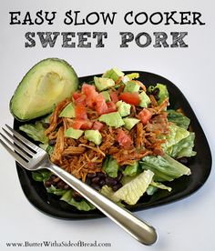 Butter with A Side of Bread: Easy Slow Cooker Sweet Pork Slow Cooker Jerk Chicken, Crock Pot Slow Cooker, Crock Pot Cooking, Cooking Tips, Slow Cooker Recipes, Food Tips, Cooking Recipes, Food Ideas, Crockpot Dishes
