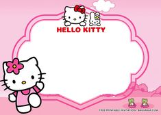 Welcome to the Christian World Hello Kitty Invitation Card, Hello Kitty Birthday Invitations, Create Birthday Invitations, Free Printable Birthday Invitations, Invitation Templates, Disney Invitations, Kue Hello Kitty, Hello Kitty Art, Hello Kitty Wallpaper Hd