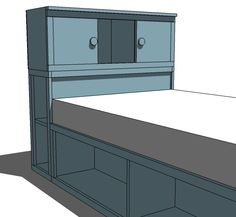 Morgan's future bed, except there will be a trundle underneath and no doors on the bookshelves.