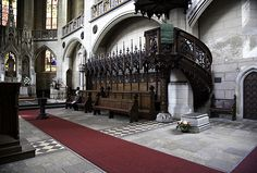 Martin Luther's tomb in Wittenberg Castle Church.
