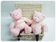 """Teddy Bear Pink or Blue Personalised """"White T-Sirt"""" Blue Teddy Bear, Cellophane Wrap, White T, Rag Dolls, Color Names, Cute Pink, Pink Blue, Super Cute, Gift Wrapping"""