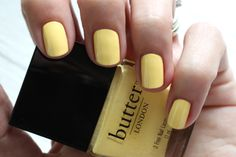 Butter London - My Favs For Summer http://bit.ly/1nNOPTg bright yellow cream nail polish