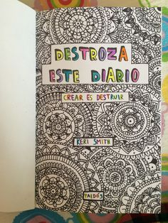 Destroza este diario Zentangle art❤️ Wrek this journal