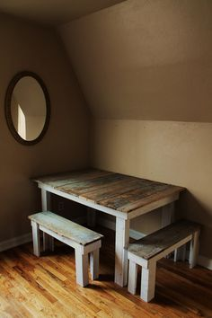 Country Barn Wood Table And Benches By EArbol On Etsy. I Like The Style W