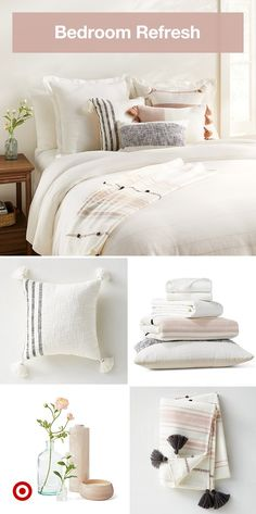 Layer soft colors textures and patterns for a relaxing bedroom update. Layer soft colors textures and patterns for a relaxing bedroom update. Click The Link For See Small Room Bedroom, Home Bedroom, Room Decor Bedroom, Dorm Room, Master Bedroom, Cute Bedroom Ideas, Cute Room Decor, Br House, Aesthetic Room Decor