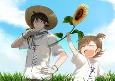 Barakamon ~~ These two cuties want you to know that I just created a board especially for them! Please visit if you are so inclined. :: Sensei and Naru