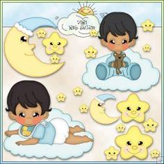 Sleepy Baby Boys 2 - Non-Exclusive Clip Art