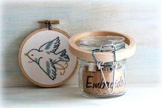 DIY Kit. DIY Embroidery Kit. Embroidery Kit. Embroidery Gifts. Hand Embroidery. Embroidery. Gifts for Her. Vintage Sparrow.