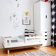 Classic Toddler Bed from Oeuf nyc #Oeuf modern design beds kids rooms inspiration children's furniture decor home