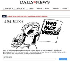 Extra! Extra! Read all about it! http://www.nydailynews.com/404