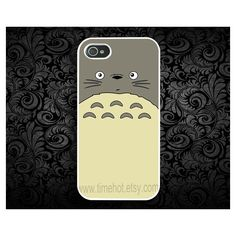 Totoro iPhone 44s case iphone 44s hard caseiphone case by timehot ($8.99) via Polyvore