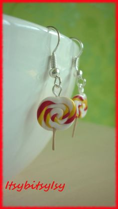 lollipop earrings by ItsybitsyIsy on Etsy, €4.95