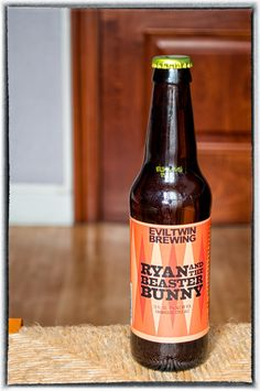 Evil Twin Ryan And The Beaster Bunny. Evil Twin, Dark Horse, Ipa, Craft Beer, Beer Bottle, Brewing, Twins, Bunny, Horses